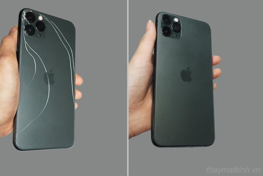 Thay lưng kính iphone 11 pro max đen